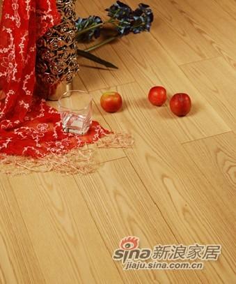 宏鹏地板金铂面防潮实木系列―白腊木WFT-15-04A-0