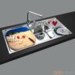 GORLDE优质不锈钢水槽/洗菜池 环保星系列HBS-4#(大小盆)
