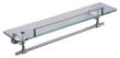 华艺卫浴D29080 单层玻璃置物架