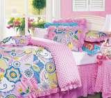 富安娜圣之花缎纹印花床单四件套绚彩激情