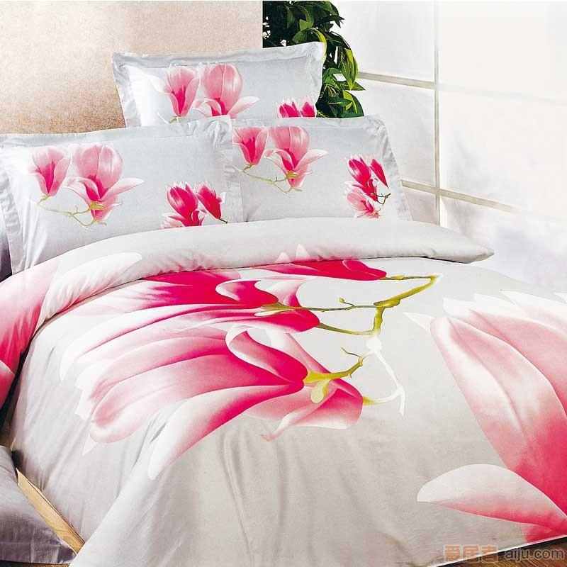 家元素床上用品花开奇缘四件套(纯棉)HD12000011