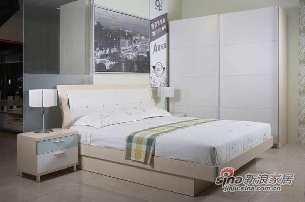 东方百盛-B677双人床-0