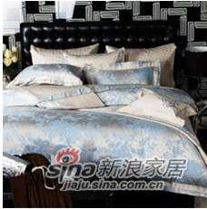 紫罗兰家纺床上用品婚庆系列提花四件套牡丹唇彩VPEZ506-4-0