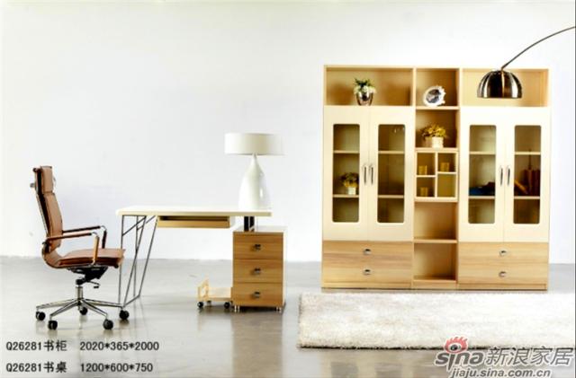印象米兰升级系列-Q26281书桌+Q26281书柜