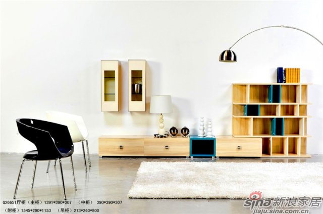印象米兰升级系列-Q26651厅柜(主柜)、厅柜(附柜)、厅柜(吊柜)、厅柜(中柜)