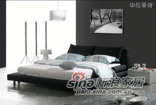 华伦蒂诗布艺软床双人床C806B -0