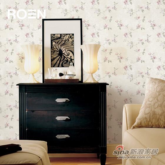 柔然壁纸英式田园的罗风格无纺墙纸-0