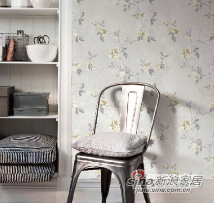 柔然壁纸英式田园的罗风格无纺墙纸-2