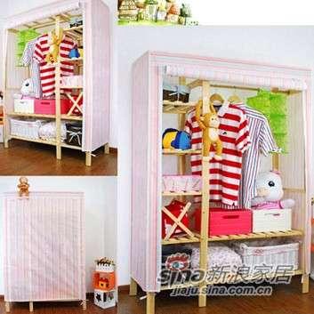 美好家120衣柜6#粉红条-0