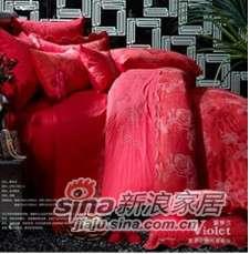 紫罗兰家纺婚庆色织提花六件套醉花词VPEK1002-6-0