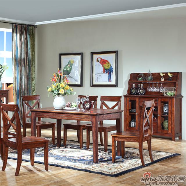 巴克庄园S5057#餐桌、S5063#餐椅、S5065#餐边柜