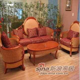 凰家御器藤沙发组合家具-0