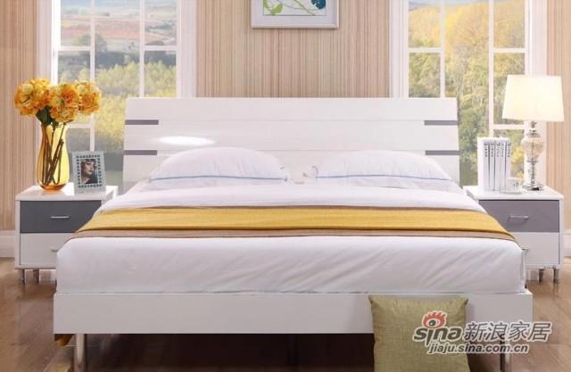 三叶家私烤漆组合板式床-1