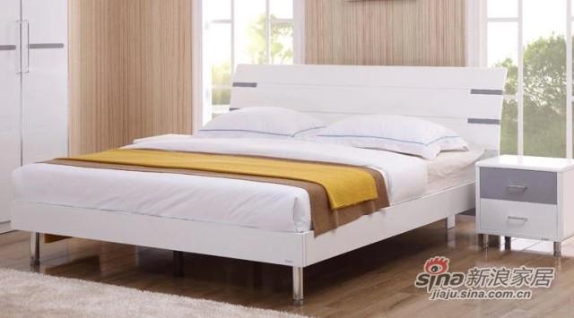 三叶家私烤漆组合板式床-2
