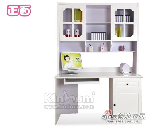 现代简约 象牙白色 中纤板 儿童组合电脑桌-2