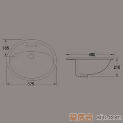 惠达台盆-HD82