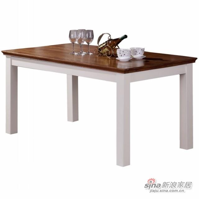 森岳家具 1.2米餐桌 田园乡村纯实纯实木-1