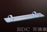 百德嘉五金龙头挂件-H631005单层玻璃架