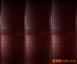 皇家枣红+圆弧百叶+立柱边框 +平板腰带