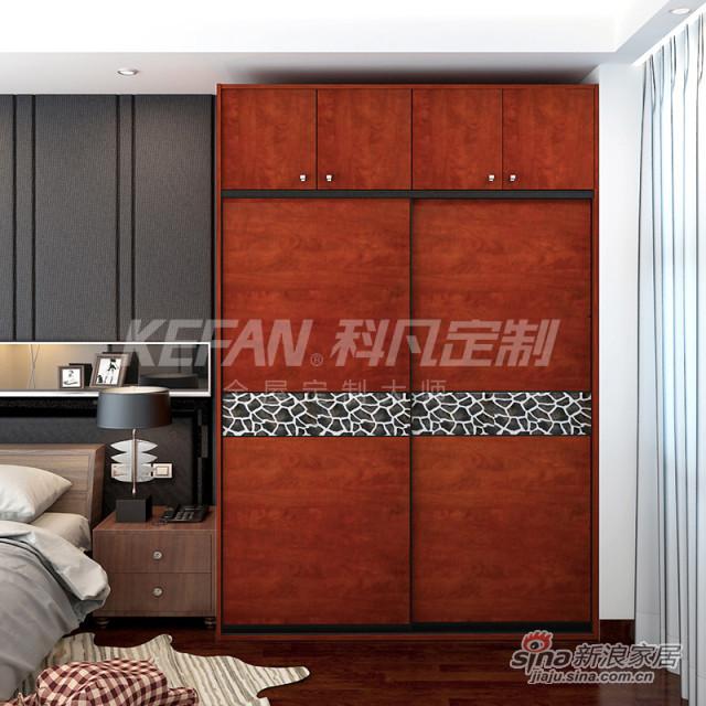 科凡中式整体卧室木质衣柜CY001