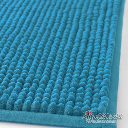 天蓝色防滑浴室地垫