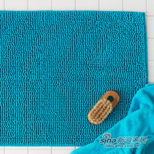 天蓝色防滑浴室地垫-1