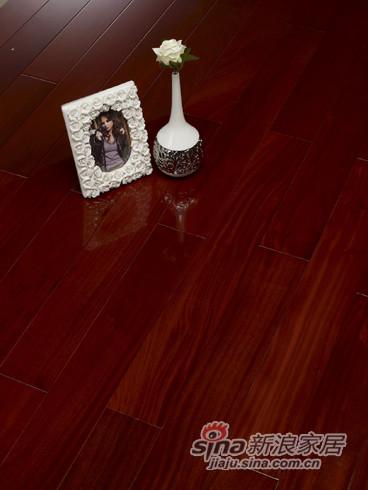 【永吉地板】实木晶砂面——星河世纪 桃花蕊木永吉色