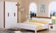 三叶家私现代双人板式床