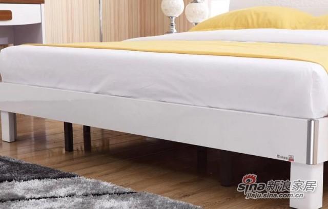 三叶家私现代双人板式床-2