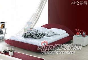 华伦蒂诗布艺软床双人床F015 -0