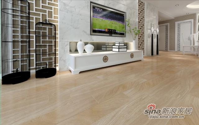 金桥地板多层实木复合环保地暖橡木地板家装 雅韵白橡-1