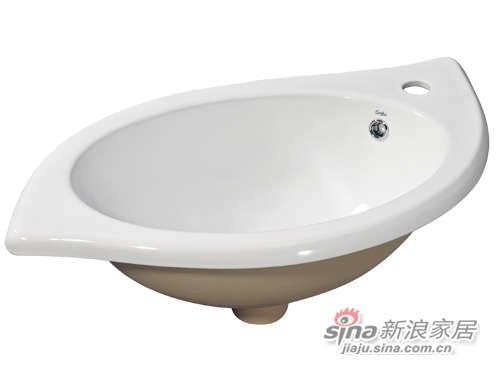 成霖高宝卫浴叶子形台上盆-0