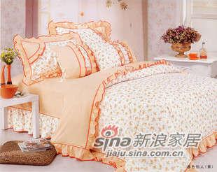 红富士床上用品高级全棉印花四件套彩虹
