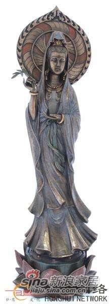 威罗尼-觀音菩薩手持柳淨瓶-冷镀铜