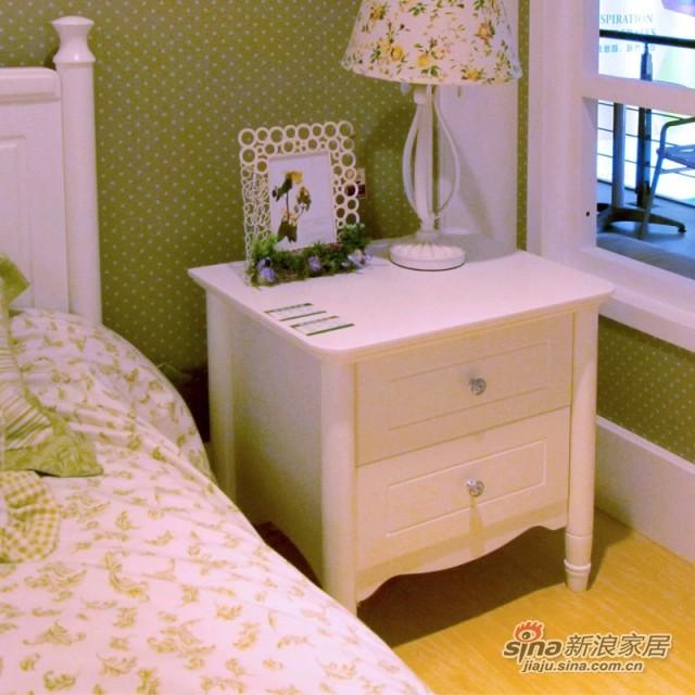 【新干线】板木床头储物柜收纳柜双桶柜床边柜-0