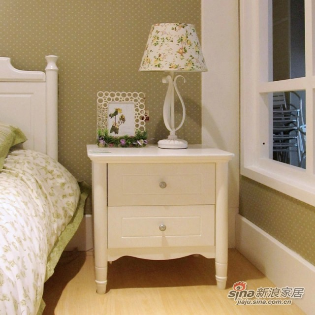 【新干线】板木床头储物柜收纳柜双桶柜床边柜-1