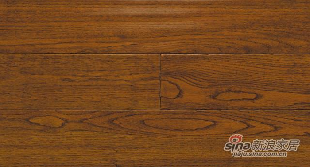 美国红橡-手刮柚木色场景实木地板
