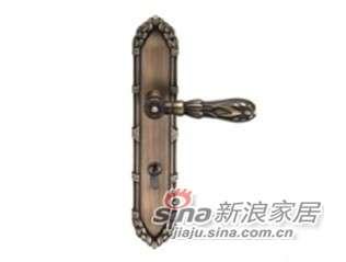 雅洁AS2011-HC0170-36中锁英文镍锁体+英文70青古铜锁胆-0