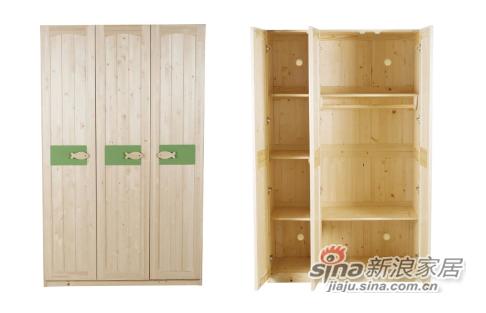 多喜爱实木三门衣柜-2