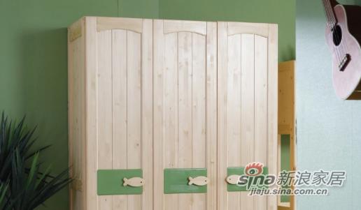 多喜爱实木三门衣柜-3
