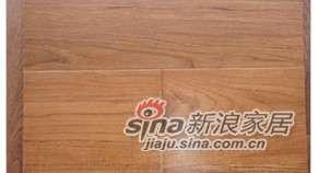 四合地板三层实木复合地板柚木自然色