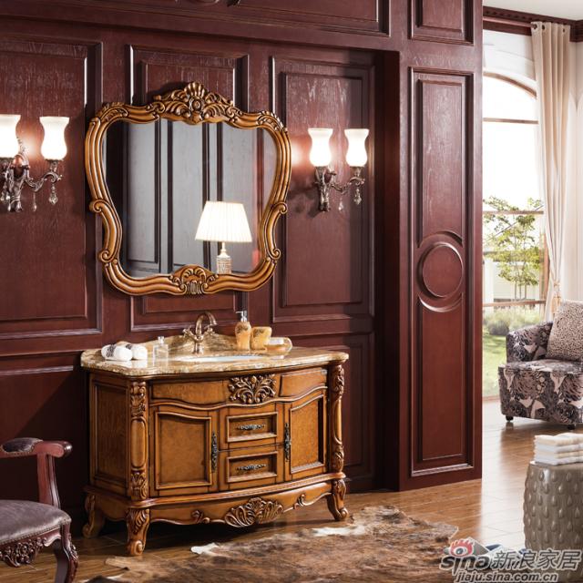 阿洛尼浴室柜-欧式仿古柜-A1145