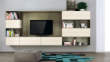 清新格子式客厅壁挂电视柜