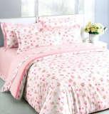 红富士床上用品纯棉三件套盈盈仙子粉