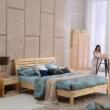 喜梦宝床柜两件套实木卧室组合家具简约大气1.5米双人床+床头柜子