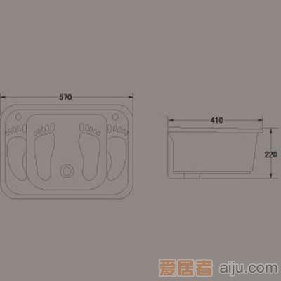 惠达洗涤槽-HD3洗脚槽2