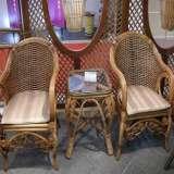 凰家御器藤椅藤家具三件套休闲椅阳台椅NH-A049