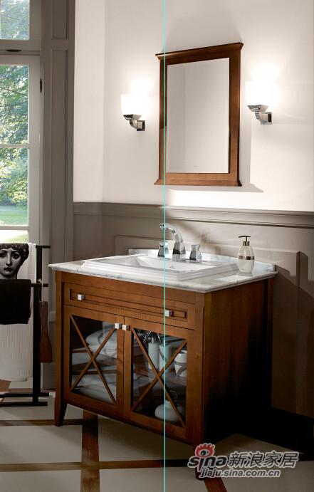 豪迈台上盆+梳洗柜-1