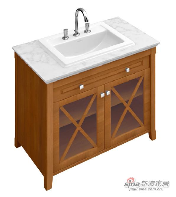 豪迈台上盆+梳洗柜-3