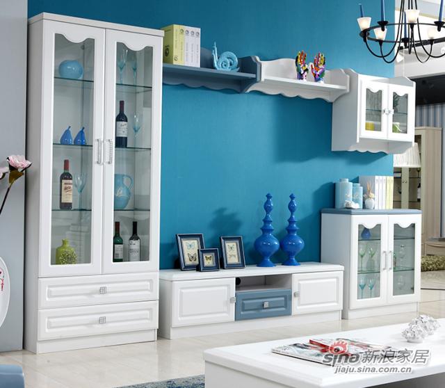 地中海风格简约现代白色电视柜